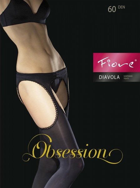 Fiore - Opaque suspender tights Diavola, 60 denier
